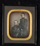 Visualizza Portrait of two young men in uniform. anteprime su
