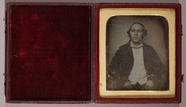 Thumbnail preview of three quarter length portrait of a man facing…