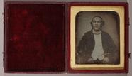Thumbnail af three quarter length portrait of a man facing…