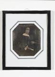 Miniaturansicht Vorschau von Portrait of unknown woman sitting, letter wit…