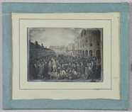 Visualizza Photograph of engraving showing a crowd scene… anteprime su