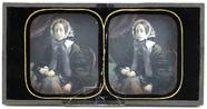Miniaturansicht Vorschau von Die Stereoaufnahme zeigt eine junge Frau in d…