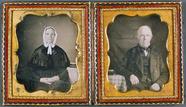 Miniaturansicht Vorschau von Doppelporträt - Ehepaar, USA, ca. 1852.