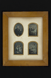 Visualizza Frame holding 4 daguerreotypes; most probably… anteprime su