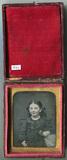 Visualizza Three quarter length tinted portrait of seate… anteprime su