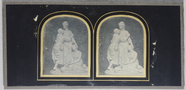 Visualizza Stereo view, depicting a statue group of thre… anteprime su