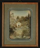 Thumbnail preview of Eingang zu einem Park mit einer Kapelle (?), …