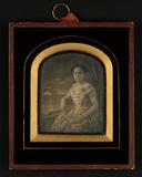 Visualizza Bildnis einer jungen Dame, Halbfigur, vor gem… anteprime su