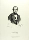 Visualizza Brustbild eines Mannes mit Brille, krausen Ha… anteprime su