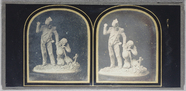 Miniaturansicht Vorschau von Stereo view, depicting a statue group: a sold…