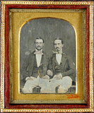 Thumbnail preview of Three-quarter portrait of two sitting young m…