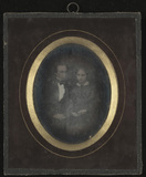 Thumbnail preview of Portrait of a man and woman. Interesting hair…