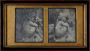 Miniaturansicht Vorschau von Full portrait of two naked women with orienta…