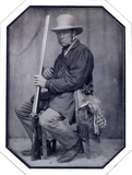 Visualizza Chasseur assis. Portrait d'un chasseur assis … anteprime su