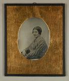 Visualizza Junge Frau, halbe Figur nach links, 1850 anteprime su