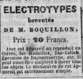 Thumbnail af Advertisement for Electrotypes brevetés de M …