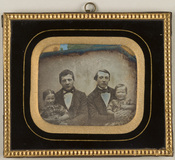 Miniaturansicht Vorschau von Group portrait. Portrait of two men seated, e…