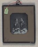 Miniaturansicht Vorschau von Dobbeltportræt af uidentificerede kvinder