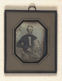 Thumbnail preview of Portrait of unidentified man with child