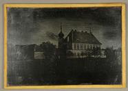Visualizza Landschaft mit kleinem Schloß, 1840 - 1845. anteprime su