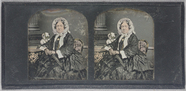 Visualizza Three quarter length portrait of a seated wom… anteprime su