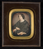 Thumbnail preview of Portrait of a woman, half figure, seated, res…