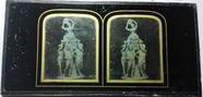 Miniaturansicht Vorschau von Sculpture of three young boys holding a baske…