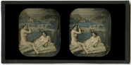 Visualizza Doppelakt vor gemalter Kulisse. Paris, ca. 18… anteprime su