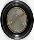 Miniaturansicht Vorschau von Portrait of a sitting gentleman, leaning with…
