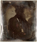 Miniaturansicht Vorschau von loose plate; unrecognizable portrait of man, …