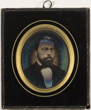 Visualizza Portrait of a bearded man with glasses.   Pre… anteprime su