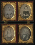 Visualizza Four frontal portraits of  parents with two c… anteprime su