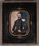 Visualizza Portrait of unknown man with mustache in unif… anteprime su