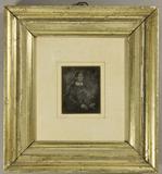 Esikatselunkuvan Frau in dunklem Kleid mit kleinem weißen Krag… näyttö