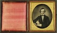 Forhåndsvisning av Junger Mann mit Buch, USA, ca. 1846.