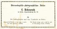 Thumbnail af Zwei Rückseiten von Stereobildern von C. Ecke…