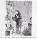 """Forhåndsvisning av Daguerre dans son laboratoire """"découvre la pr…"""