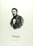 Visualizza Brustbild eines Mannes mit Bart, lithographie… anteprime su