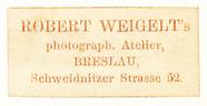 Visualizza Etikett von Robert Weigelt anteprime su
