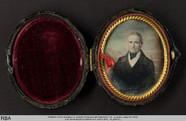 Visualizza Portrait eines älteren Mannes vor gemalter Fe… anteprime su