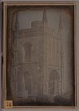 Thumbnail preview of Landscape showing a gothic entrance (porch) o…