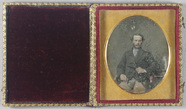 Thumbnail preview of Three quarter portrait of seated middle aged …