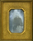 Thumbnail preview of Portrait of elderly Mr. Piolti, looking stern…