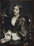 Visualizza Porträt einer unbekannten Dame mit Korkenzieh… anteprime su