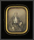 Visualizza Portrait de femme âgée, à la robe à carreaux,… anteprime su