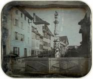 Stručný náhled Spalenbrunnen, Bâle. [Vue inversée]