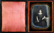 Thumbnail preview of Three quarter portrait of a  young girl with …