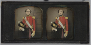 Visualizza Three quarter length portrait of a young Army… anteprime su
