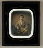 Visualizza Bildnis einer jungen sitzenden Frau, Dreivier… anteprime su