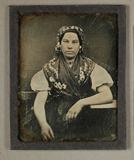 Thumbnail preview van Bildnis einer jungen Frau in Tracht, 1840-184…